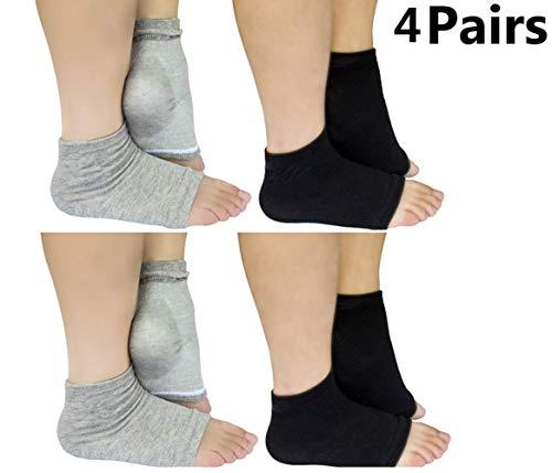 Calcetines hidratantes puntera abierta Hidratante Gel de silicona talón calcetines. 2 pares.