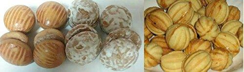 NEW Russian Korzhiki / Traditional Tea Biscuits / Cookies (Best of Russia European Sampler, 1 Pack of Each Mini Korzhiki, Pryaniki, & Oreshkie)