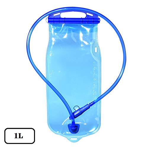 TOPmountain - Bolsa de hidratación (1 L, antigoteo, portátil, para senderismo, camping, correr, ciclismo, sistema de hidratación para hombres y mujeres), tamaño 1 L