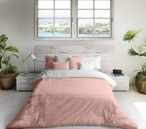 Bettdeckenbezug Naturals Weiß Rosa (105er-Bett)