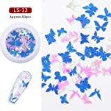 Manyao Nail Getrocknete Blumen Star Wood Pulp Blatt 16 Animal Alphabet Mixed Nagel-Schmucksachen Flecken 3D Nail Art Dekorationen Nägel Accessoires (Color : Gray)