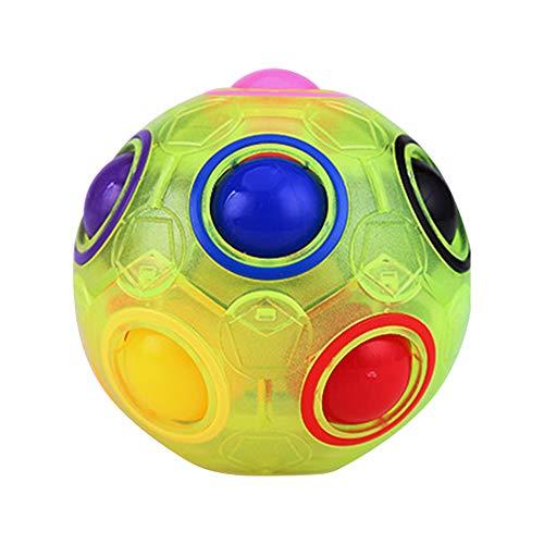 Ningque Magic Ball Puzzle Cube Pop Rainbow Magico Cubo Juguetes para Niños Adultos Educación Juguetes Anti Estrés Cubo