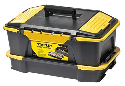 Stanley Kombi Werkzeugbox / Organizer (31x24.7x50.7cm, mit flexiblen Innenteilern, spezielles Clip Verbindungssystem, Deckel vollständig abnehmbar) STST1-71962
