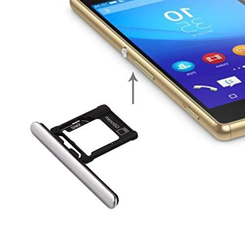 EASON Ranura Micro SIM Card + SD/Bandeja Puerto del Enchufe del Polvo for Sony Xperia XZ Bounty (versión Doble SIM) Bandeja (Color : Silver)