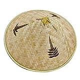shentaotao Retro China de bambú ratán Pescador Sombrero Hecho a Mano de la Armadura del Sombrero del Cubo Hueco Natural Fuera del Enrejado de bambú Cap Braid Pesca Parasol Sombrero