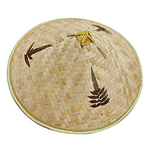 Retro chinesischer Bambus Rattan Fischer-Hut handgemachte Webart-Wannen-Hut Natürliches aushöhlen Lattice Bambus-Flechten-Kappe Angeln Sonnenschutz-Hut