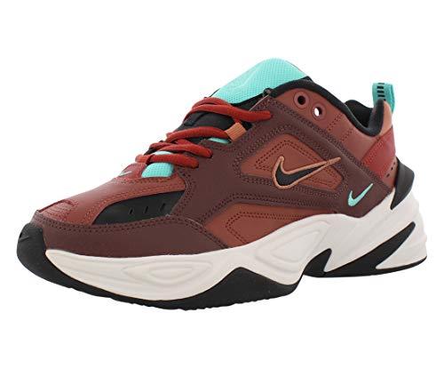 Nike Women's M2K Tekno Mahogany Mink/Black/Burnt Orange AO3108-200 (Size: 8)