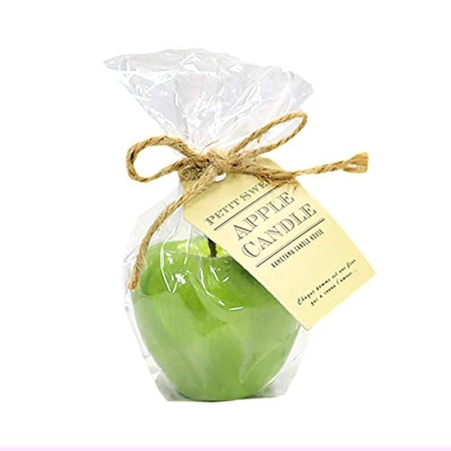 確執召喚するアジャカメヤマキャンドルハウス プチスイートアップルフローティングキャンドル グリーン アップルの香りつき