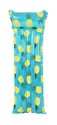Liveinu Hamaca hinchable para agua, ligera, flotante, plegable, para fiestas, piscina, playa, 175 x 65 x 22 cm, color azul piña