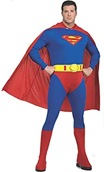 Rubie s Plus-Size Superman Complete Adult Costume Blue/Red One Size