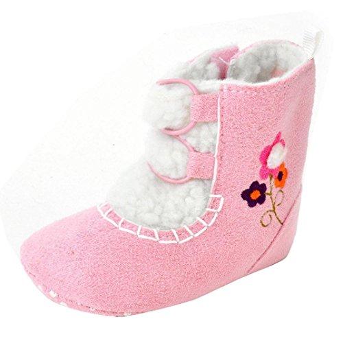 kingko® Bébés filles douce Sole Crib Réchauffez Flats Cotton Boot Toddler Prewalker Chaussures (6~12 Mois)