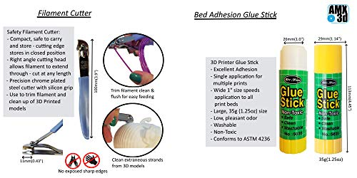 AMX3d Pro Grade 3D Printer Tool Kit - All The 3D Printing Tools & Accessories Needed to Remove, Clean & Finish 3D Prints (Pro Grade)