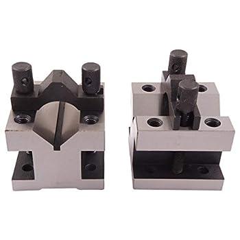 HHIP 3402-0002 2-3/8 L X 2-3/8 W X 2 H Precision V-Block & CLAMP Set