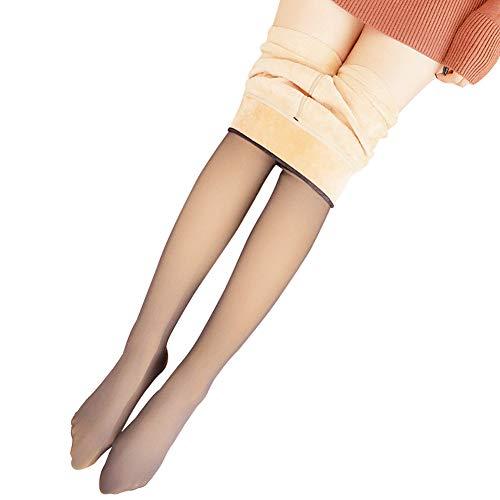 Classicoco panty van fleece, warm, transparant, smal, rekbaar, voor winter in de buitenlucht