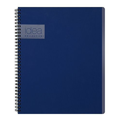 Oxford Idea Collective Meeting Notebook, Double Wire-O, 11 x 8 1/4, Ruled, 80 Sheets, Blue (57024IC)