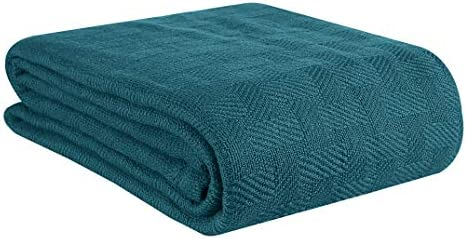 GLAMBURG 100 Cotton Bed Blanket Breathable Bed Blanket Twin Size Cotton Thermal Blankets Twin product image