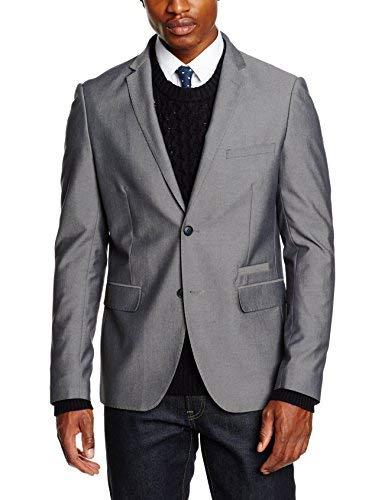 Lindbergh Men's Blazer Chaqueta de Traje, Gris (Lt Grey), 44 para Hombre