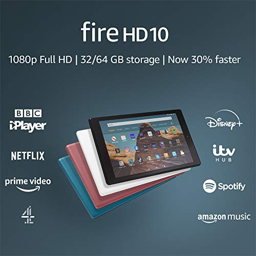 "Fire HD 10 Tablet | 10.1"" 1080p Full HD display, 32 GB, Plum - with Ads"
