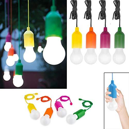 4 Lampadine a led senza fili Handy Lux Color che Illumina con un click