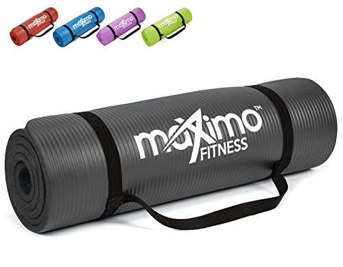 Maximo Exercise Mat NBR Fitness Mat - Multi Purpose - 183 x 60 x 1.2 centimetres -...