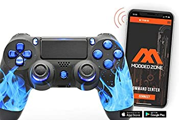 Blue Fire PS4 PRO Smart Rapid Fire Modded Controller Mods for FPS All Major Shooter Games Warzone & More  CUH-ZCT2U