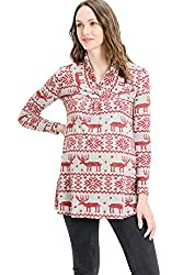 Pretty HELLO MIZ Women's Sweater Knit Maternity Long Sleeve Tunic Top