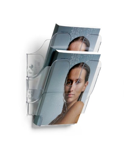 Durable 1709013400 Juego de dispensadores de folletos FlexiPlus 2 A5, 1 juego, transparente