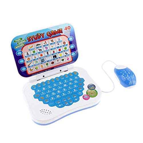 Fenteer Entdecker Laptop, Lernlaptop Lerncomputer Baby Tablet Mit Maus, Lernspielzeug für Kinder ab 4 Jahre