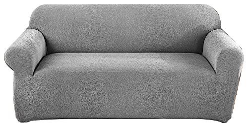 HXTSWGS Funda Protectora Antideslizante,Juego de sofás tallados de Color Puro Engrosado, Funda elástica Antideslizante para Silla Chaise-Light Grey_L