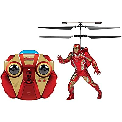 World Tech Toys Marvel Heroes Iron Man 2CH IR RC Helicopter, 33189
