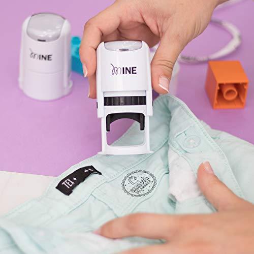 Sello para Ropa Personalizado Redondo, Más de 12 Diseños Exclusivos a Elegir, Marcador Ropa Personalizado