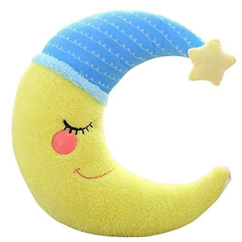 Nube en forma de almohada, Forma Luna creciente de peluche de juguete almohadilla de tiro del amortiguador -Oficina del sofá del sofá del asiento de coche Nursing Home Almohada decorativa Color: H NXT