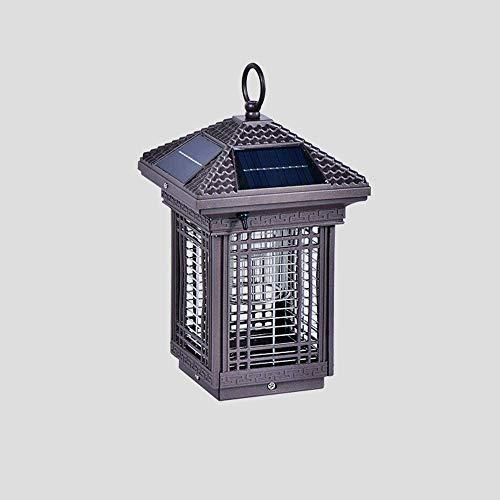 KAIKEA Linterna de pilar de acrílico solar para exteriores, decoración de postes de puerta Lámparas de poste de pilar impermeables de doble uso, IP55, enchufe eléctrico para montaje en exteriores, acc