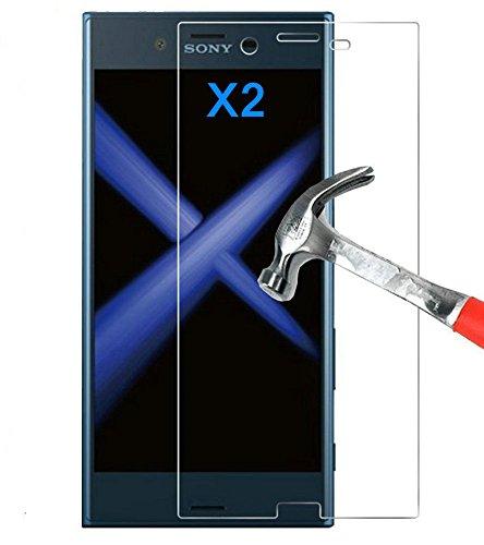 Kepuch 2パック 強化ガラス スクリーンプロテクター 対応 Sony Xperia XZ1 Compact