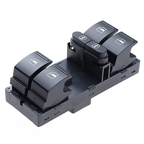 WANGXI Interruptor de Elevador de Ventana Maestro de Coche, Interruptor de Control del Lado del Conductor Delantero Izquierdo,para Touran 2011-2015,7L6959857E 7L6959857C