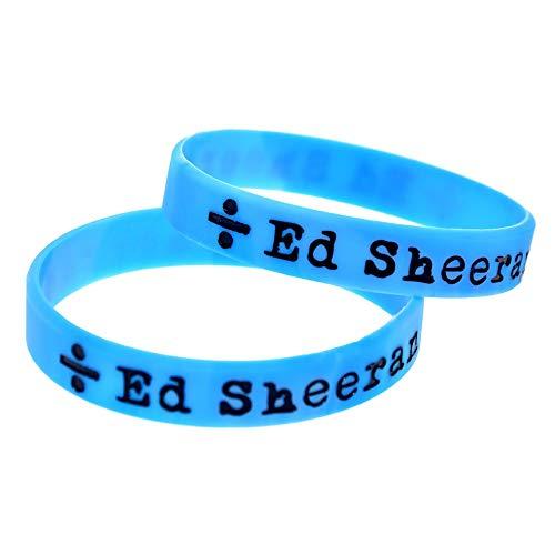 Xi-Link Anillo De La Mano Suave De La Pulsera Verde Ed Sheeran Pulsera De Silicona Pulsera De Estrellas (Color : Blue)
