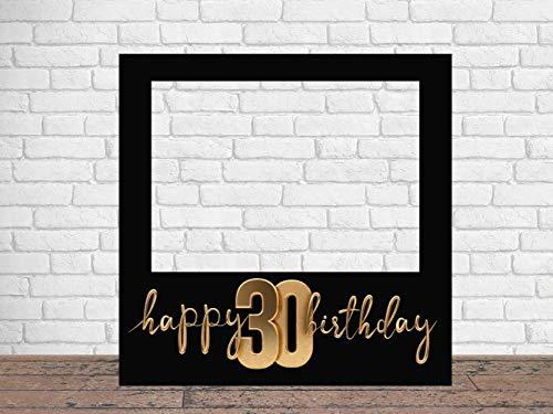Photocall Feliz 30 Cumpleaños 100 x100 cm | Regalos para Cumpleaños | Photocall Económico y Original | Ideas para Regalos | Regalos Personalizados de Cumpleaños