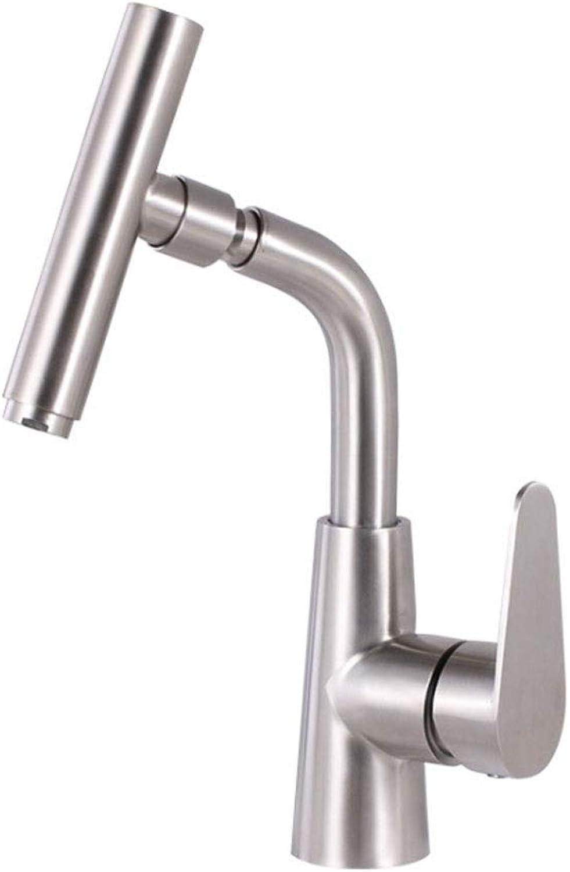 Towero Ausziehbarer Wasserhahn hei und kalt 304 Edelstahl Wasserhahn Spülbecken Waschbecken Wasserhahn