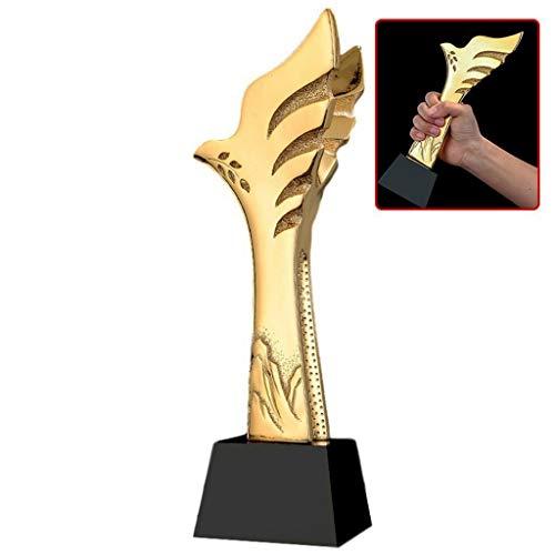 Trophy Resin Trophy Resin Crystal Trophy Competition Trophy Box Lettering (Color : Gold, Size : 828cm)