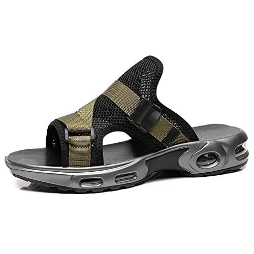 Heimaolvcztuox Flip Flop, Zapatillas de cojín de Aire para Hombres Zapatillas a Prueba de Golpes Zapatillas de Cordones Hombres cómodos Zapatillas Antideslizantes para Hombres