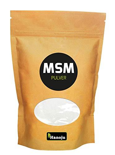 Hanoju MSM Pulver im Zip Beutel 500 g - Nahrungsergänzungsmittel aus MSM Pulver Soja & Laktosefrei