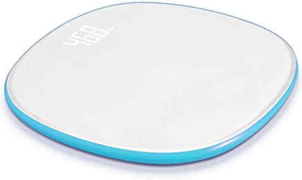 Home Smart Digital Bathroom Weight Electronic Scale WiFi Data Transmission Disc Electronic Scale 330 Pounds (Color : Blue)