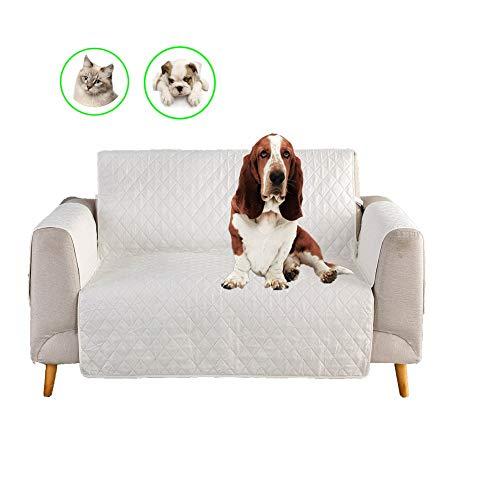 LIANGZHI - Copripoltrona per animali domestici, in microfibra, atossica, morbida, per divano, poltrona, antiscivolo, bianco, Large