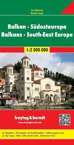 Balkan - Südosteuropa, Autokarte 1:2.Mio. (freytag & berndt Auto + Freizeitkarten)