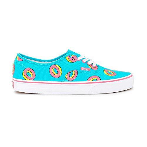 Vans AUTHENTIC (OF DONUT) Scuba Blue Skateboard Shoes-Men 9.5, Women 11.0
