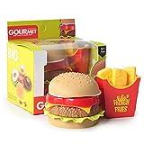 Hamburger di Simulazione Patatine Fritte, Simulazione di Cibo per Bambini Giocattoli per Bambini Finti Giochi Cucina Giocattoli Educativi Regalo