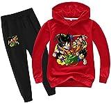 Silver Basic Niños Dragon Ball Sudadera con Capucha y Pantalones Chándal Anime...