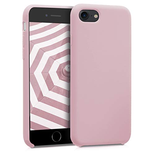 kwmobile Hülle kompatibel mit Apple iPhone 7/8 / SE (2020) - Handyhülle gummiert - Handy Case in Peach Skin