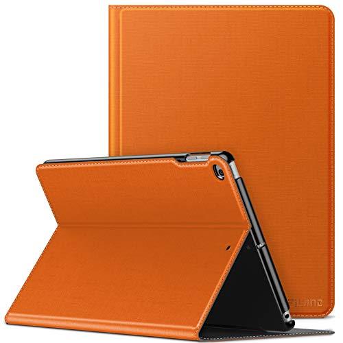INFILAND iPad Air 2/ipad Air Case,iPad 2018/2017 9.7 inch Case(6th/5th Generation),Shockproof Leather Stand,Smart Cover with Auto Sleep/Wake Fit ipad Air 2/ipad Air,ipad 9.7 2018/2017,Orange