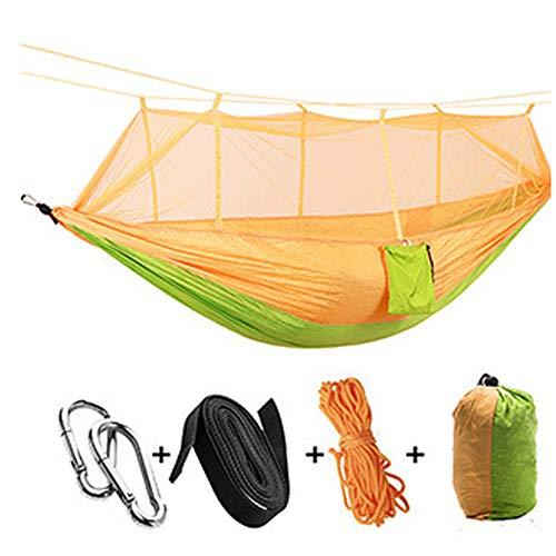 YYYY Hamaca para Acampar con mosquitera, 260 * 140 cm, Cama Doble superligera para mosquitera para Acampar, Hamaca para Acampar de Tela de paracaídas